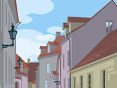 Medieval street — Stock Vector