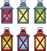 Traditional lanterns — Stock Vector