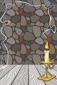 Background with candlestick — Stok Vektör