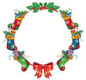 Christmas decoration frame — Stock Vector