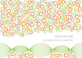 Abstract vector background with circles — Stock Vector