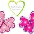 Royalty-Free Stock Vector Image: Vector layout with pair of butterflies and heart
