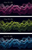 Set of vector layouts with waves — Stock Vector
