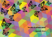 Abstract vector background with colorful butterflies — Stock Vector