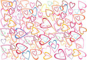 Romantic hearts background — Vector de stock