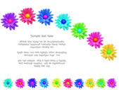 Abstract colorful flowers — Stock Photo