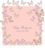 Sfondo romantico con farfalle — Vettoriale Stock