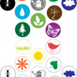 Set of vector spring symbols - Stock Vector