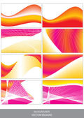 Set of vector backgrounds — Stock Vector