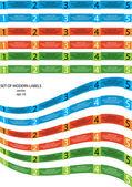 Set di etichette moderne vettoriale — Vettoriale Stock