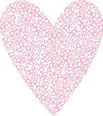 Romantic hearts background — Stock vektor