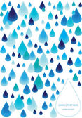 Abstract background with rain drops — Stock Vector