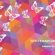 Abstract vector backgrounds with butterflies — Imagens vectoriais em stock