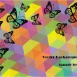 Abstract vector backgrounds with butterflies — Imagen vectorial