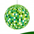 Stock Vector: Retro disco ball