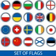 Set of vector flags — Stock Vector