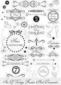 Set of calligraphic vintage elements — Vector de stock
