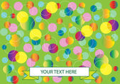 Abstract vector bubbles background — Stock Vector