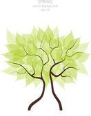 Vector illustration of spring tree — Stock Vector