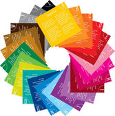 Vektor design av färgglada Taggar — Stockvektor
