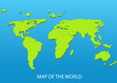 Map of the world — Stock Vector