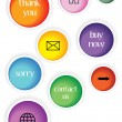 Stock Vector: Set of glossy web buttons isolated on white background