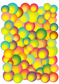 Abstract vector background with dimensional bubbles — Stock Vector