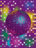 Abstract vector background with glittering disco ball — Stock Vector