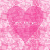 Valentine card design with pink heart — Vector de stock