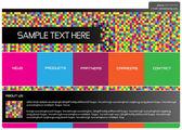 抽象的な web ページのデザイン — ストックベクタ