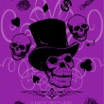 Skulls silhouettes — Stock Vector