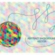 Retro disco ball isolated on tiles background — 图库矢量图片