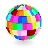 Color vector dimensional ball — Stock Vector