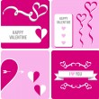 Valentine concept, romantic vector design — Stock Vector