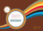 Circle frame in retro style, vector concept — Vector de stock