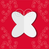 Romantic paper butterfly — Stock Vector
