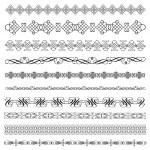 Set of calligraphic vector ornaments — Stock Vector #29634795