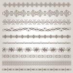 Set of calligraphic vector ornaments — Stock Vector #29634827