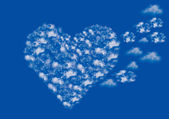 Clouds heart — Stock Photo