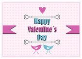 Vintage valentine card design — Stock Vector
