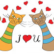 Pair of cats in love — Stock Vector #32178741