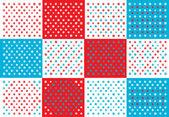 Fond rétro polka dots — Vecteur