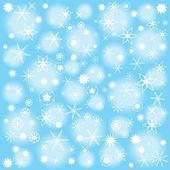 Abstract vector emballage papier décors avec des flocons de neige de Noël — Vecteur