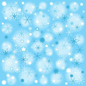 Abstract vector christmas wrapping paper design with snow flakes — Stock Vector