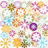 Abstract vector flowers wallpaper — Stock Vector