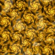 Abstract background with gold fractal roses — Stock Photo