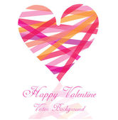 Romantic valentine background with heart — Stock Vector