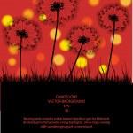 Постер, плакат: Color vector background with dandelions