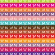 Abstract vector patchwork background with butterflies silhouettes and color lines — Imagen vectorial
