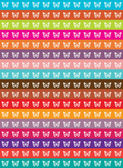 Abstract vector patchwork background with butterflies silhouettes and color lines — Stock Vector